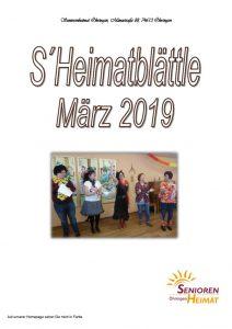 thumbnail of Heimatblättle März 19