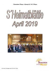 thumbnail of Heimatblättle April 19
