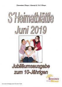 thumbnail of Heimatblättle Juni 2019