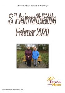 thumbnail of Heimatblättle Febr. 2020