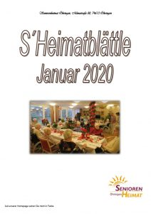 thumbnail of Heimatblättle Januar 2020