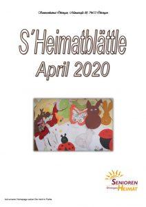 thumbnail of Heimatblättle April 2020