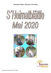 thumbnail of Heimatblättle Mai 2020