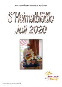 thumbnail of Heimatblättle Juli 2020