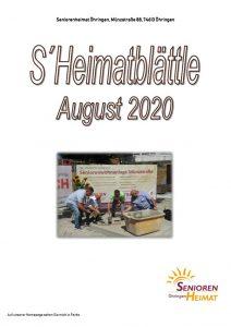 thumbnail of Heimatblättle August 2020