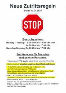 thumbnail of Zutrittsregeln Stand 12.01.2021