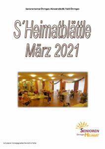 thumbnail of Heimatblättle März 21