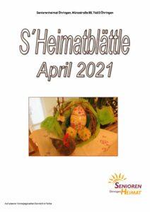 thumbnail of Heimatblättle April 21