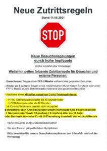 thumbnail of Neue Zutrittsregeln Stand 12.05.2021