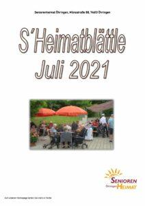 thumbnail of Heimatblättle Juli 21